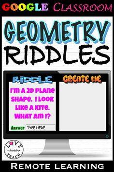 Learning about 2D and 3D SHAPES has never been so fun! Use these shape riddles to engage your students to name and create shapes in GOOGLE CLASSROOM!  Use these slides for extension activities, gifted students, or math centers. Plane Shapes, 2d And 3d Shapes, Google Classroom, Classroom Ideas, Gifted Students, Riddles To Solve, Learning Shapes, Student Gifts, Math Centers