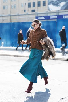 New_York_Fashion_Week-Fall_Winter_2015-Street_Style-NYFW-Olivia_palermo_Culotte-Kitwear-Fur_Scarf-