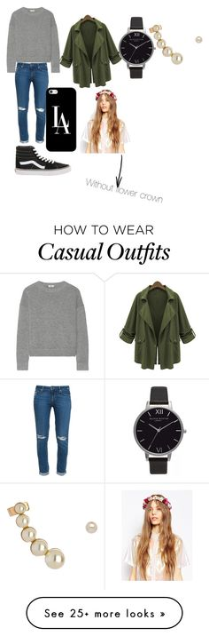 """Casual #30"" by kkmahony on Polyvore featuring Paige Denim, Vans, Chicnova Fashion, Issa, Casetify, Olivia Burton, Blu Bijoux, ASOS, women's clothing and women"