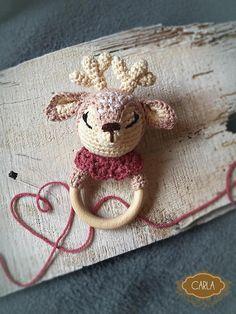 Ieva Berga added a photo of their purchase Crochet Deer, Crochet Toys, Crochet Baby, Matilda, Beanie Knitting Patterns Free, Dream Catcher Boho, Teething Toys, Baby Rattle, Reno