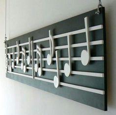 Bonita decoración musical.