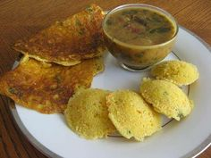 Instant Cornmeal Idli (Cornmeal Dosa): Simple Indian recipe for making idli and dosa using cornmeal. Cornmeal Idli and dosa are quick to prepare and can be served as breakfast or as evening tiffin. Easy Indian Recipes, Easy Dinner Recipes, Breakfast Recipes, Easy Meals, Ethnic Recipes, Yummy Healthy Snacks, Yummy Food, Indian Breakfast, Pancakes And Waffles