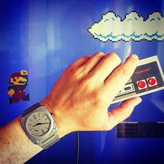 REPOST!!!  SUPER MARIO FOREVER 🍄🐢🐲!!! Do you remember the music? How many hours the most of us spent on Mario? No cell phones or Web at the time... #supermariobros @bulgariofficial #octofinissimo #titanium #bestofshow # #nintendo #baselworld2017 #watchonista #videogame #chillout #easysunday #flashback #savetheprincess #mario #supermario #nintendoclassic #backintime #watches #automatic #watchporn #watchaddicts #instawatch  Photo Credit: Instagram ID @alexanderfriedman
