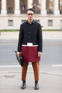 Simone Formichetti's Color-Blocked Marni Coat. Streetstyle Inspiration for Men! #WORMLAND Men's Fashion