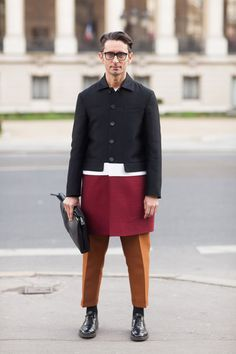 Street Style: Simone Formichetti's Color-Blocked Marni Coat