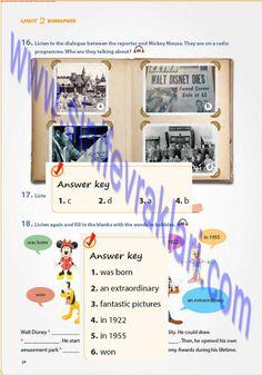7. Sınıf İngilizce Ders Kitabı Cevapları Pantera YayınlarıSayfa 24   7. Sınıf İngilizce Pantera Yayınları Ders Kitabı Cevapları Sayfa 24 ... Walt Disney, Mickey Mouse, Bubbles, The Unit, Baby Mouse