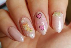 Green and Pink Kitty Cat Nails – My Nail Envy