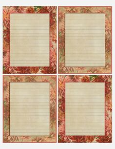 Autumn's Queen Chrysanthemum ~ printable with 4 lined notes. Journal Paper, Journal Cards, Vintage Stationary, Stationary Printable, Printable Lined Paper, Spring Blossom, Free Graphics, Note Paper, Writing Paper