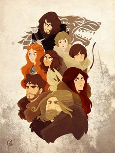 Dead Ned and the Starks by eightbreeze