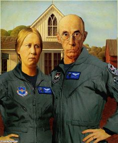 American Gothic Airforce Pilots✖️More Pins Like This One At FOSTERGINGER @ Pinterest✖️