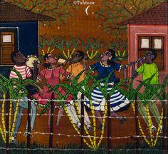 Heitor dos Prazeres. Samba no Quintal. 32x34 cm