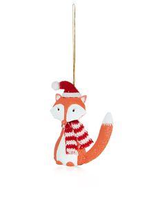 Tin Fox Decoration