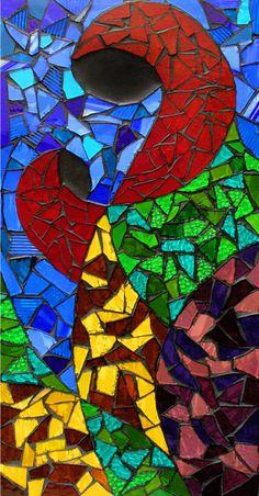 Virgen - glass mosaic                                                  anaposada.mosaico                                                                                   Colombia