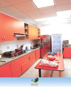 O Espaço da Culinária é ampla, próprio para oficinas com as crianças