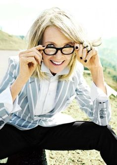 Diane Keaton makeup by Collier Strong.