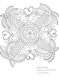 20150311 Colouring Book For Grown Ups Coloring Black White Mustard Ljungeld Maria Germany 500