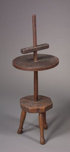 Wooden Adjustable Candlestand.