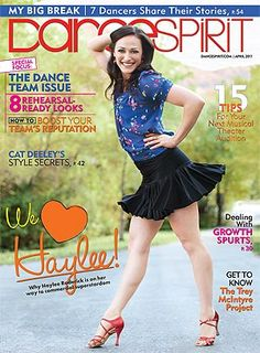 Haylee sports Black Salsa Skirt made by Divina Dancewear in the April 2011 cover of DanceSpirit Magazine.    Shop here for Adult and Youth sizes -   http://www.divinadancewear.com/#!adult-all/cq8a