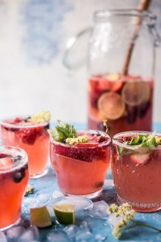 Summertime Rosé Tequila Sangria - so refreshing, so simple...and so pretty! Perfect summertime drink! From halfbakedharvest.com