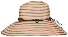 a054150a485 Ladies Lightweight Sun Hat - Natural Red Stripe by RMO Rocky Mountain  Outback Hats. Buy it   ReadyGolf.com