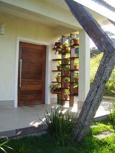 Amazing way to planting your garden and outdoor design Exterior Design, Interior And Exterior, Jardin Decor, Pergola, Plant Shelves, Garden Shelves, Vertical Gardens, Balcony Garden, Garden Projects