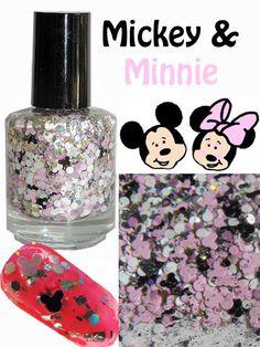 Mickey & Minnie Glitter Topper Nail Polish by GlitterLambsPolish