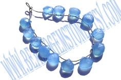 Blue Chalcedony Faceted Heart Quality B / 18 cm by beadsogemstone, $10.80
