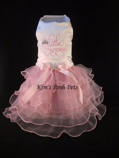 Little Princess Dog Gown Dress SMALL _ #HandMadebyKim _ Facebook - Kim's Posh Pets