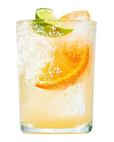 Morning Margarita | Martha Stewart - Two guest-star ingredients turn a typical happy-hour margarita into a sunny brunch beverage: Orange marmalade adds a bittersweet tang, and El Guitarron agave wine comes from the same plant as tequila but has about half the alcohol. #cincodemayo #margarita #brunchrecipe #cocktail