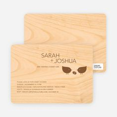 Wood Block Baby Shower Invitations by Paper Culture