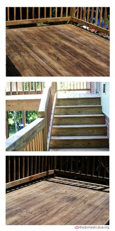 How-to Stain a Deck #projectsmadesimple