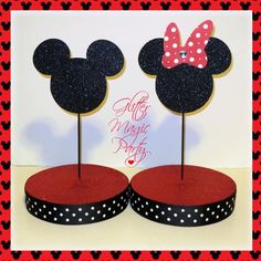 Minnie and mickey mouse stands - lollipops or cakepops stands - mickey mouse party theme - set of 2