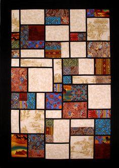 Sandie McCann, Mondrian western quilt.