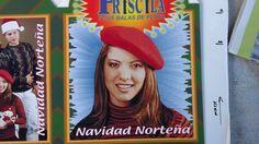 """PRISCILA Y SUS BALAS DE PLATA CHRISTMAS 3 D cube poster """"NAVIDAD NORTENA"""""""