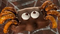 Reese's Peanut Butter Pumpkin Spiders - RECIPE: http://abcn.ws/1tDo4Zb