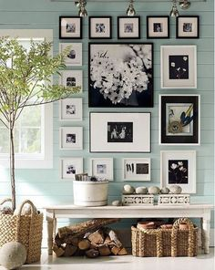 Love this Gallery Wall & Vignette