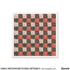 SMALL PATCHWORK FLORAL PATTERN FOR NAPKINS