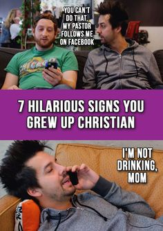 Oh No....You can't do that, my pastor follows me on Facebook! 7 Hilarious Signs You Grew Up Christian - Watch it Here...