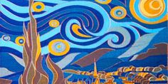 """This miniature version of Starry Night was made with a """"laser paintbrush"""" 