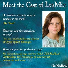Mia Sinclair Jenness' #MeetTheCast card, part 2.