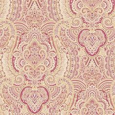 Blue Mountain Wallcoverings LW1343244 Prepasted Paisley Wallpaper