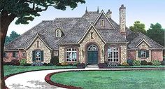 Plan W48305FM: Corner Lot, French Country, European House Plans & Home Designs
