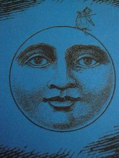 Vintage Moon in Blue