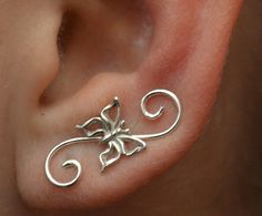 Hey, I found this really awesome Etsy listing at https://www.etsy.com/listing/111294561/swirly-butterfly-mini-ear-pin-gold