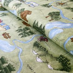 Are We There Yet Camping Fabric by Kris Lammers for Maywood Studios by ShopPetunias on Etsy