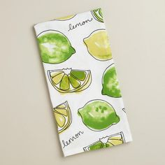 One of my favorite discoveries at WorldMarket.com: Lemon Lime Kitchen Towel