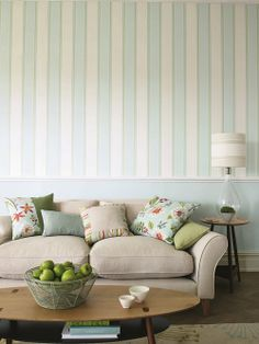 #Madison #Stripe - This #wallpaper is a smart, #classic symmetrical stripe, in clean, #contemporary colours which work across all schemes.