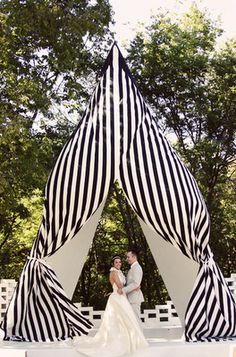 stripy tent action!