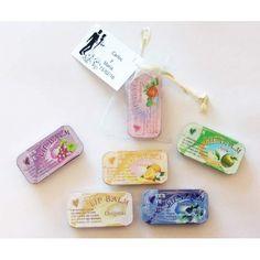 cbfc629f6 Bálsamo de labios en bolsa de organza con tarjeta personalizada Set De  Manicura, Bálsamo Para