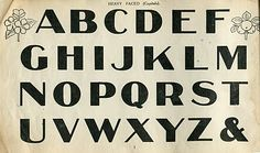 vintage typeography